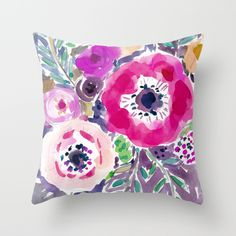 gorgeous loosely drawn and painted floral...via society6!  RED ANEMONE SPRAY FLORAL by Barbarian / Barbra Ignatiev