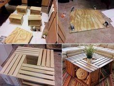 great coffee table idea
