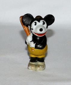 Mickey Mouse baseball player bisque (1930's)