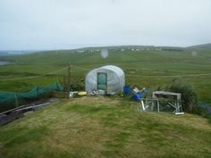 Polytunnel in Bigton, Shetland - This polytunnel was built in 2011 on a very exposed site, right on the coast of the North Atlantic Ocean (far left).... Who says polytunnels can't survive a storm?! #PolytunnelsScotland #polytunnel #Scotland #storm #coast #NorthAtlanticOcean #strong #growyourown #gyo  http://www.premierpolytunnels.co.uk