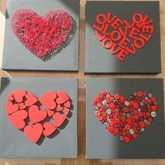 Love art for the bedroom - make Valentine& Day gifts yourself valentines day day day cards day crafts day food day ideas geschenk spruch Valentines Day Decorations, Valentine Day Crafts, Be My Valentine, Diy And Crafts, Crafts For Kids, Arts And Crafts, Paper Crafts, Valentines Bricolage, Art Diy