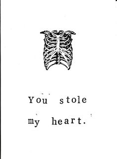 Skeleton Anatomy Greeting Card You Stole My Heart - Greeting Cards | RebelsMarket
