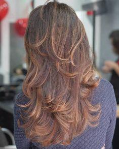 Long Layered Brown Hair With Balayage