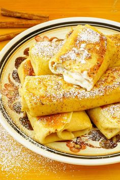 Jewish Crêpe Recipe: Classic Cheese Blintzes Putting these with the desserts, but just as good for breakfast. The kind of thing I used to get at a really good diner or deli. Breakfast And Brunch, Breakfast Dishes, Breakfast Recipes, Mexican Breakfast, Breakfast Sandwiches, Breakfast Pizza, Pancake Recipes, Waffle Recipes, Passover Recipes