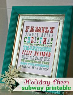 Christmas Subway art free printable - TodaysCreativeBlog.net