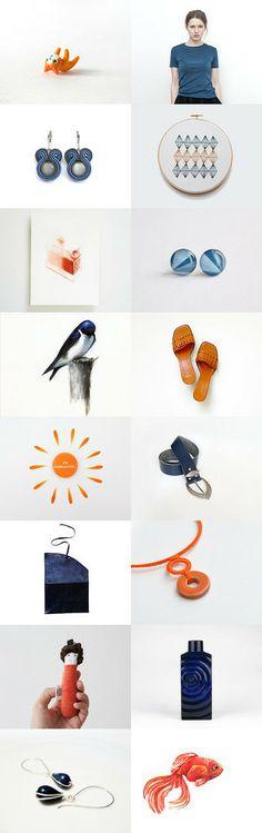 orange sun :: treasury by Barbara on Gift Guide, Sun, Orange, Etsy, Solar