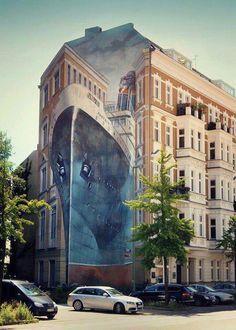 Street Art in Berlin, Germany.