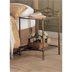 Vintage Bedroom Nightstand Side Accent End Table Metal Corner Storage Furniture for sale online Coaster Fine Furniture, Table Furniture, Bedroom Furniture, Home Furniture, Furniture Design, Furniture Outlet, Metal Furniture, Online Furniture, Antique Furniture