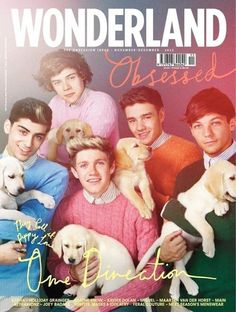One Direction + Puppies = Best Magazine Cover Ever