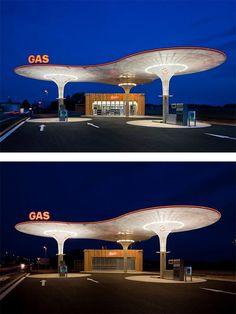Slovakian Gas Station by Atelier SAD | Inspiration Grid | Design Inspiration