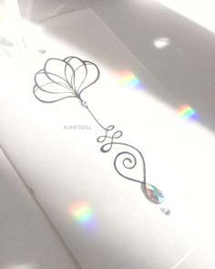• U N A L O M E • O  é o brilho matinal do fio de Luz. Valor via direct ou e-mail. Do not copy or reproduce my work. #unalome #unalometattoo #lotustattoo #alinecoill #yoga #flowerlotus #lotusflower #semfiltro