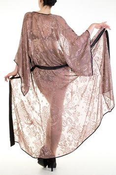 Andromeda sheer floor length kimono- Harlow and Fox 8a8b9dbfa