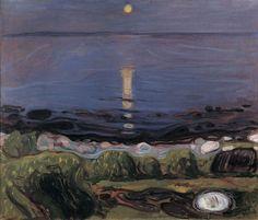 Edvard Munch , Sommernatt ved stranden/ 1902-03