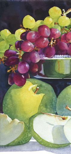 Granny's Apple - close-up - Sue Archer Watercolors