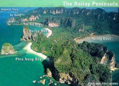 All the best beaches and resorts you must visit in Thailand. Including the Phi Phi islands, Krabi, Phuket, Koh Tao, Koh Samui and bangkok. Railay Beach Krabi, Railay Beach Thailand, Khao Lak Beach, Ao Nang Beach, Thailand Travel, Asia Travel, Travel Tips, Climbing Shop, Rock Climbing