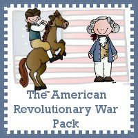 Free American Revolutionary war Printable Pack (good for kids 2-8, perfect for younger kids studying alongside older siblings)
