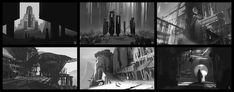 Some composition thumbnails done for fun. I find I often have trouble thinking of what to paint, so I do these sketches to brainstorm different ideas without having to commit time to rendering and detail. Landscape Concept, Urban Landscape, Abstract Landscape, Value Painting, Environment Sketch, Composition, Thumbnail Sketches, Traditional Landscape, Environmental Design