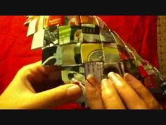 How To Make A Square Candy Wrapper Bag / Purse Part 2 - YouTube