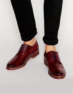 Image 1 - River Island - Chaussures richelieu à lacets - Bordeaux