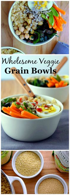 Wholesome Veggie Grain Bowls, a simple batch meal you can make for packable lunches all week. (ad) | uprootkitchen.com