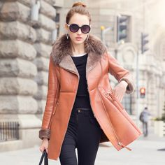 2015 new fur coat Girls long section of one of the high-end beauty利奴皮wool coat USD$749.75
