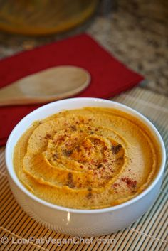 Low Fat Vegan Oil Free Yammus: Sweet Potato Hummus