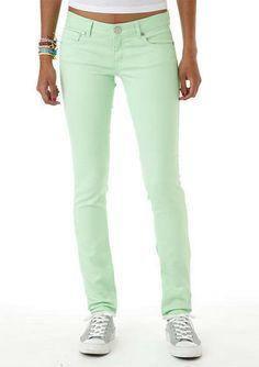 Fresh Green Skinny Jeans!