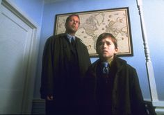 """The Sixth Sense: Bruce Willis and Haley Joel Osment in 1999's The Sixth Sense - Did you know that M. Night Shyamalan got the idea of Bruce Willis being dead and not knowing it from an episode of an episode of """"Are You Afraid of the Dark"""" called """"The Tale of the Dream Girl""""? Now you do. ;)"""