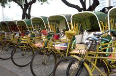 China, Macou, Rickshaws