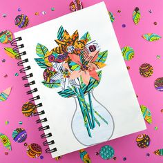 So you colored, now what? Five creative ideas for transforming finished color book pages into art, gift wrap, decorations and crafts.