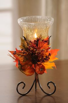 Brighten up with harvest leaves fall arrangements, fall diy, herbst Decoration Christmas, Decoration Table, Thanksgiving Decorations, Seasonal Decor, Holiday Decor, Fall Decorations, Diy Thanksgiving, Halloween Decorations, Cute Candles