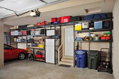 Organizing a garage isn't a one-size-fits-all project, so we've compiled some of our best garage storage ideas. Check out these tips to find ways to make your garage more organized and better to use. Maximize your garage storage space quickly . Garage Organization Tips, Garage Storage Solutions, Diy Garage Storage, Workshop Organization, Shelving Solutions, Camping Storage, Storage Systems, Organizing Ideas, Garages