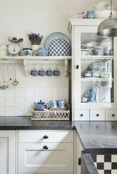 Country Kitchen - three drawers and shelf trim is cute