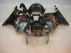 Carenado de ABS de Honda VTR1000 RC51 2000-2006 - Negro/Gris