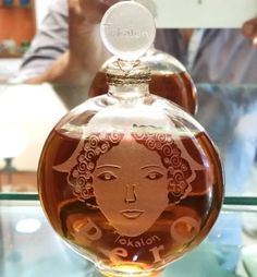 c1925 Rene R Lalique Tokalon Pero Unused Parfum Flacon Ancien Perfume Bottle
