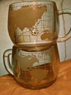 World Map Coffee Mugs
