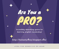 FUNtastyczny Angielski: Are You a PRO? - game for English students. Jobs, professions, occupations.
