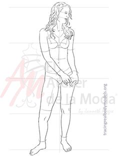 This is Teresa. ❤️ print it to create your fashion designs on real bodies. Conoce a Teresa. ❤️  Imprímela para crear tus diseños en cuerpos reales.  For more information visit: www.tracingrealbodymodels.org