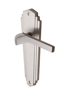 Heritage Brass WAL6510 Satin Nickel Waldorf Art Deco Door Handles