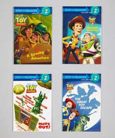 The toys are back in town with this action-packed set of books that are geared towards level-2 readers. Join Buzz Lightyear, Woody and the rest of the Toy Story gang as they discover new adventures and old laughs in these fresh stories that are sure to please.