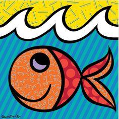Boomfish Romero Britto....Love Romero Britto.