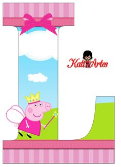 Escuela infantil castillo de Blanca: ABECEDARIO DE PEPPA PIG Girl Birthday Themes, Pig Birthday, Backyard Birthday Parties, Birthday Party Decorations, Pig Crafts, Diy And Crafts, Papa Pig, Cumple Peppa Pig, Peppa Pig Family