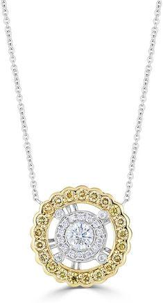 Neiman Marcus Diamonds 18k Two-Tone Circle of Life Diamond Pendant Necklace