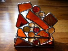 Card holder - Glassy Ladies Stained Glass Art