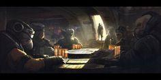 ArtStation - ILM Art Department Challenge: The Job, Alexander Dudar Star Wars Droiden, Star Wars The Old, Starwars, Chasseur De Primes, Sci Fi Environment, Star Wars Concept Art, Star Wars Characters, Fantasy Landscape, Mandalorian