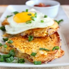 Breakfast Quesadillas Bobby Flay Recipe - After you click on this picture, when you see the next picture of it, click on that and it takes you to the blog with the recipe. yum! http://samscutlerydepot.com/product/36-piece-space-block-set/