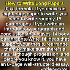 How to write a paper - Too bad I'm graduating now that I've found this. Hopefully won't need this