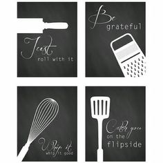 Black and white kitchen art - free printables kitchen wall art, diy kitchen, kitchen Kitchen Wall Art, Kitchen Sink, Black Kitchen Decor, Space Kitchen, Kitchen Small, Kitchen Pantry, Kitchen Towels, Design Kitchen, Country Kitchen