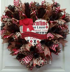 Check out this item in my Etsy shop https://www.etsy.com/listing/489609130/valentine-wreathhappy-valentines-day