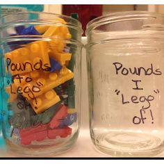 Cute weight loss tracking jar! Fun and extremely motivating!